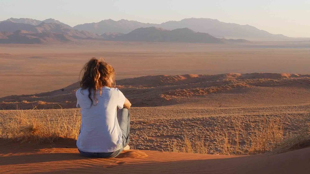 Gesa enjoying a quiet moment in the Namibian wild