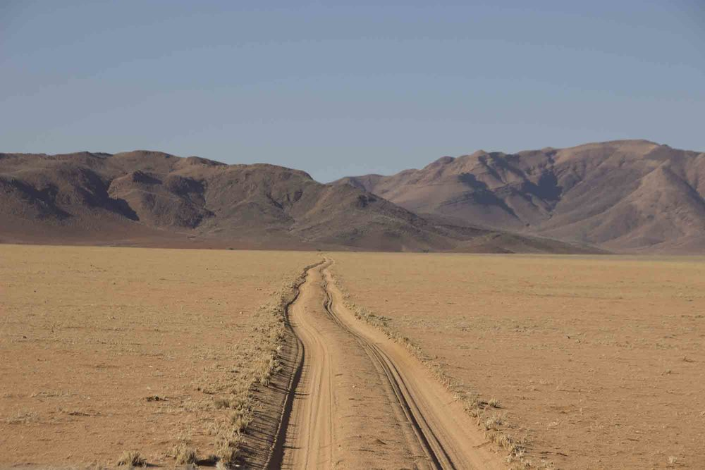 Endless roads in the Namibrand reserve