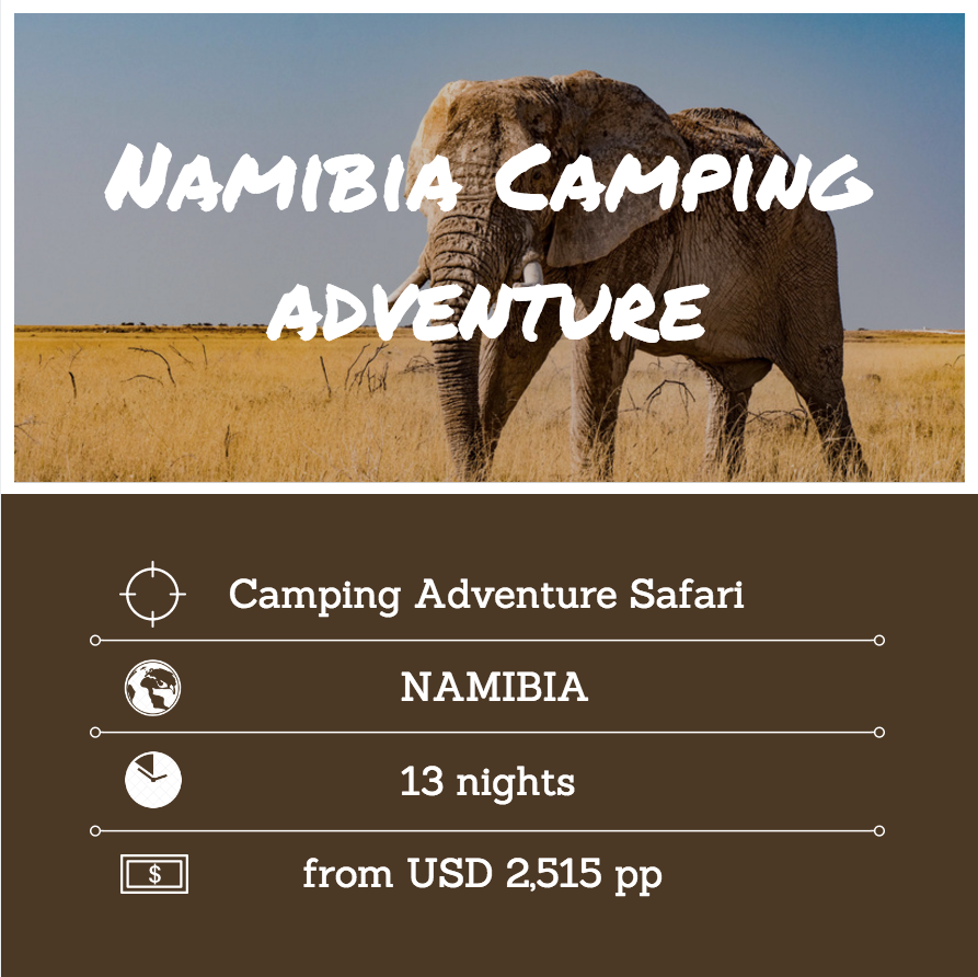 Namibia camping adventure