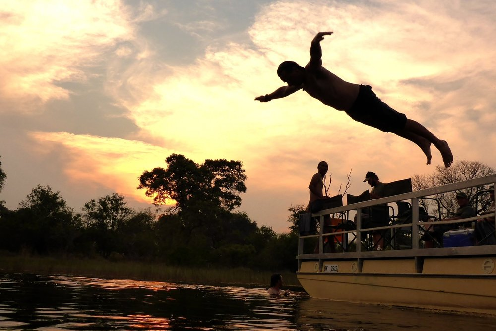 Boating skills on the Kwapa River.JPG