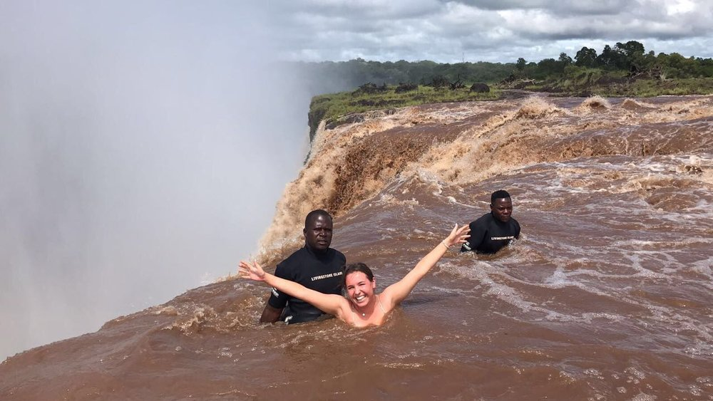 Andrea Love & family - Devils pool, Botswana Mobile Safari & Victoria Falls