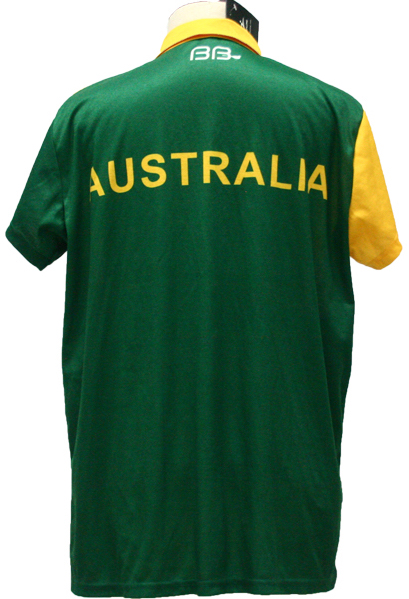 Australia Green White Yellow and Black Baseball Uniforms, T-Shirts