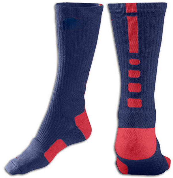 Blue and Red Baseball Uniforms, Socks