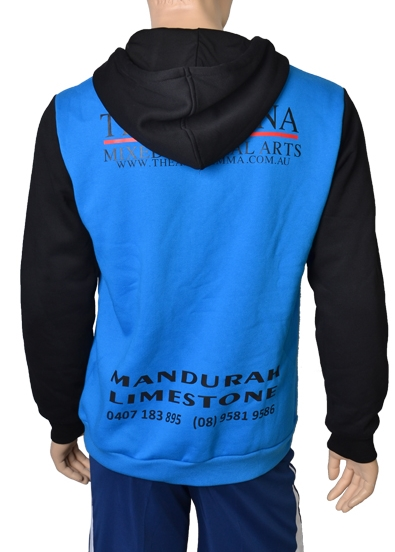 Sky Blue Black and Red Baseball Uniforms, Hoodies
