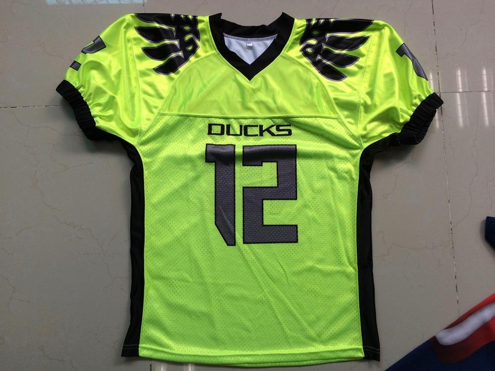 DUCKS Yellow Black and Grey Football Uniforms, Jerseys