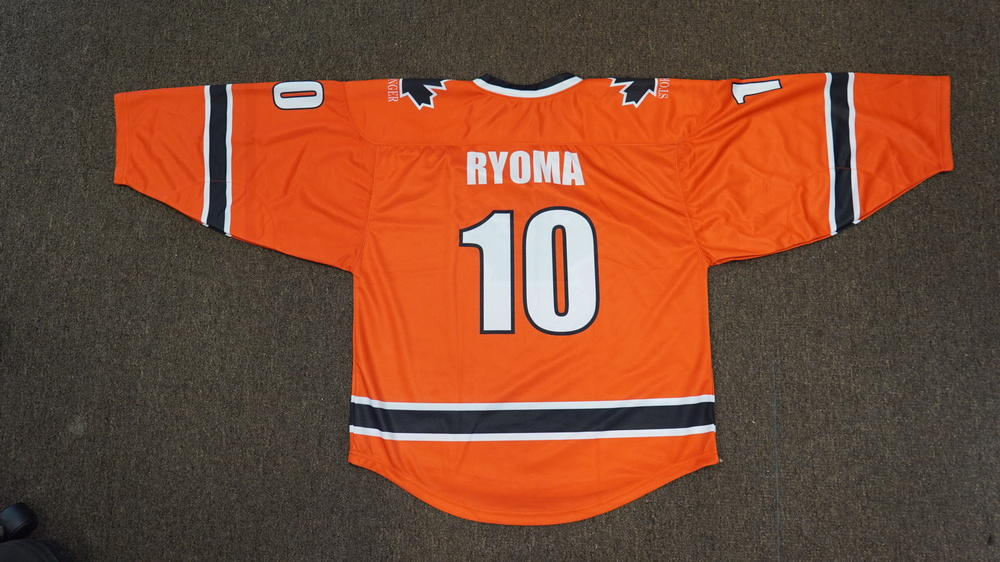 RYOMA Blue Grey Orange and White hockey uniforms jerseys