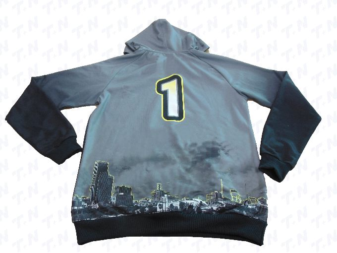 Grey Dark Grey and White Baseball Uniforms, Hoodies