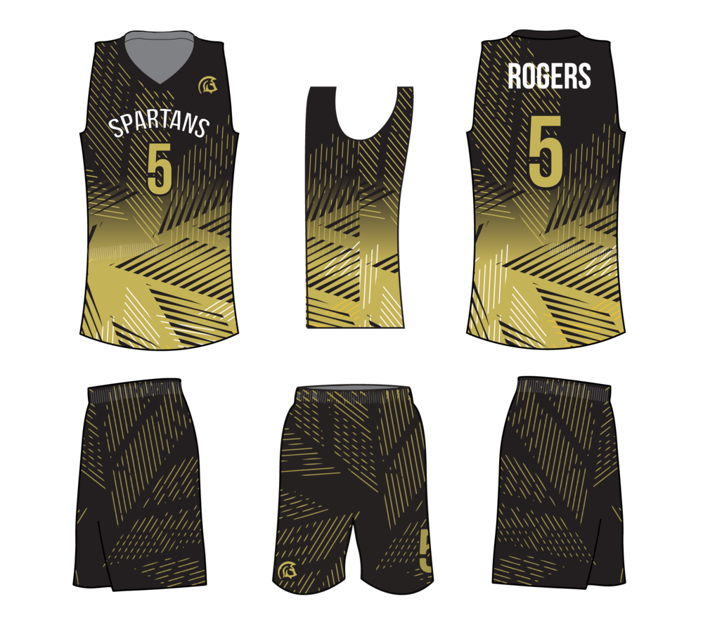 "Graphic Design basketball uniforms Vegas Gold, Spartans  jersey,""Go Spartans"""