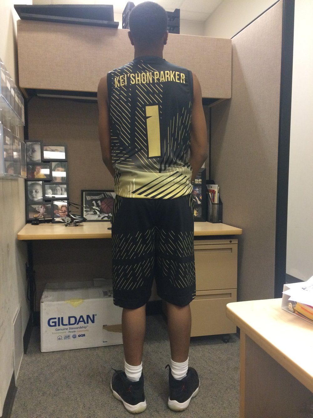 Vegas Gold Black and White Baseball Uniforms, Jersey and Shorts