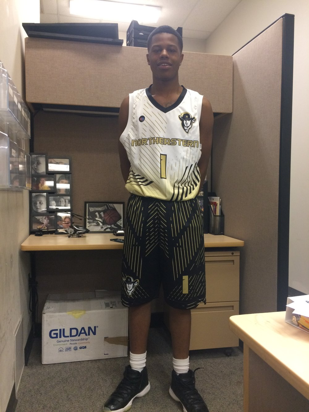 Black Vegas Gold and White Basketball Uniforms, Jersey and Shorts