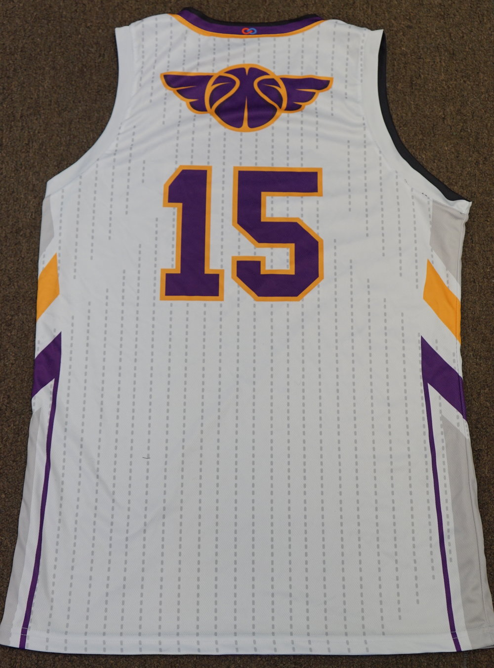 DREAM LEAGUES White Purple Black Orange and Yellow Basketball Uniforms, Jerseys