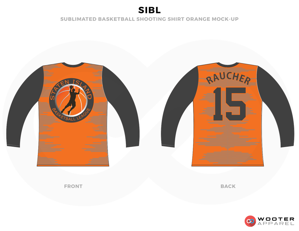 SIBL Orange and Black Basketball Uniforms, Jersey