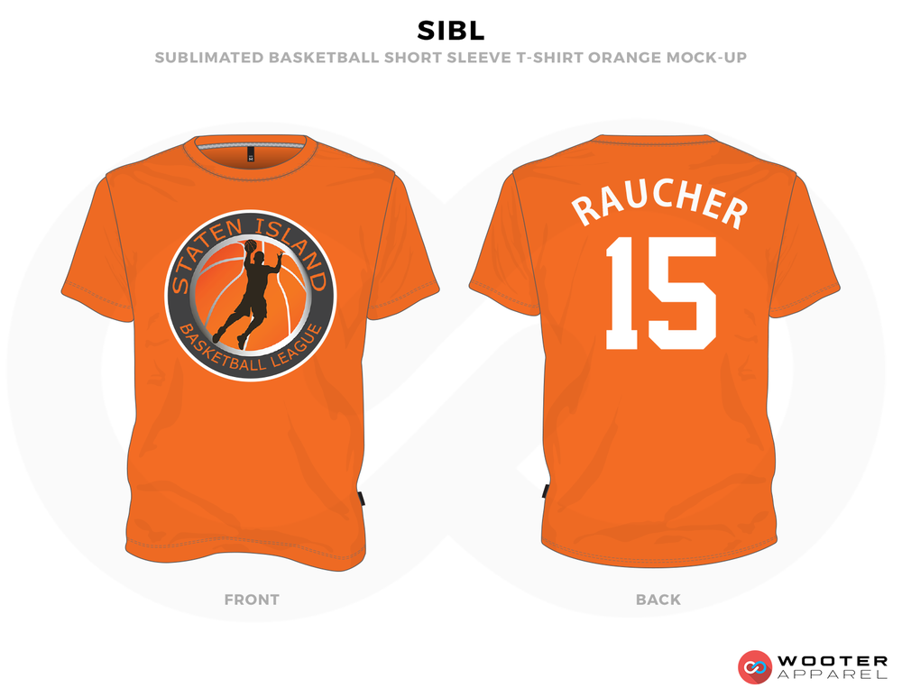 SIBL Orange White Blue and Black Basketball Uniforms, Jersey and Shirts