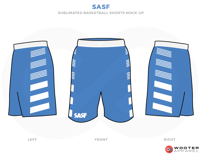 SASF Blue and White Basketball Uniforms, Shorts