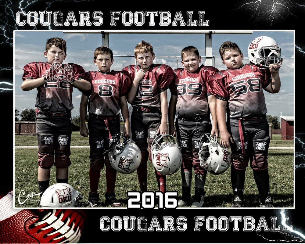 COUGARS Maroon Grey White and Black Football Uniforms, Jersey and Shorts