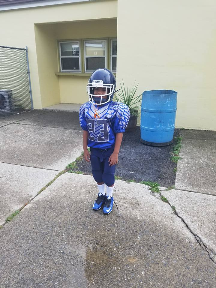 Blue White and Grey Football Uniforms, Jersey and Shorts
