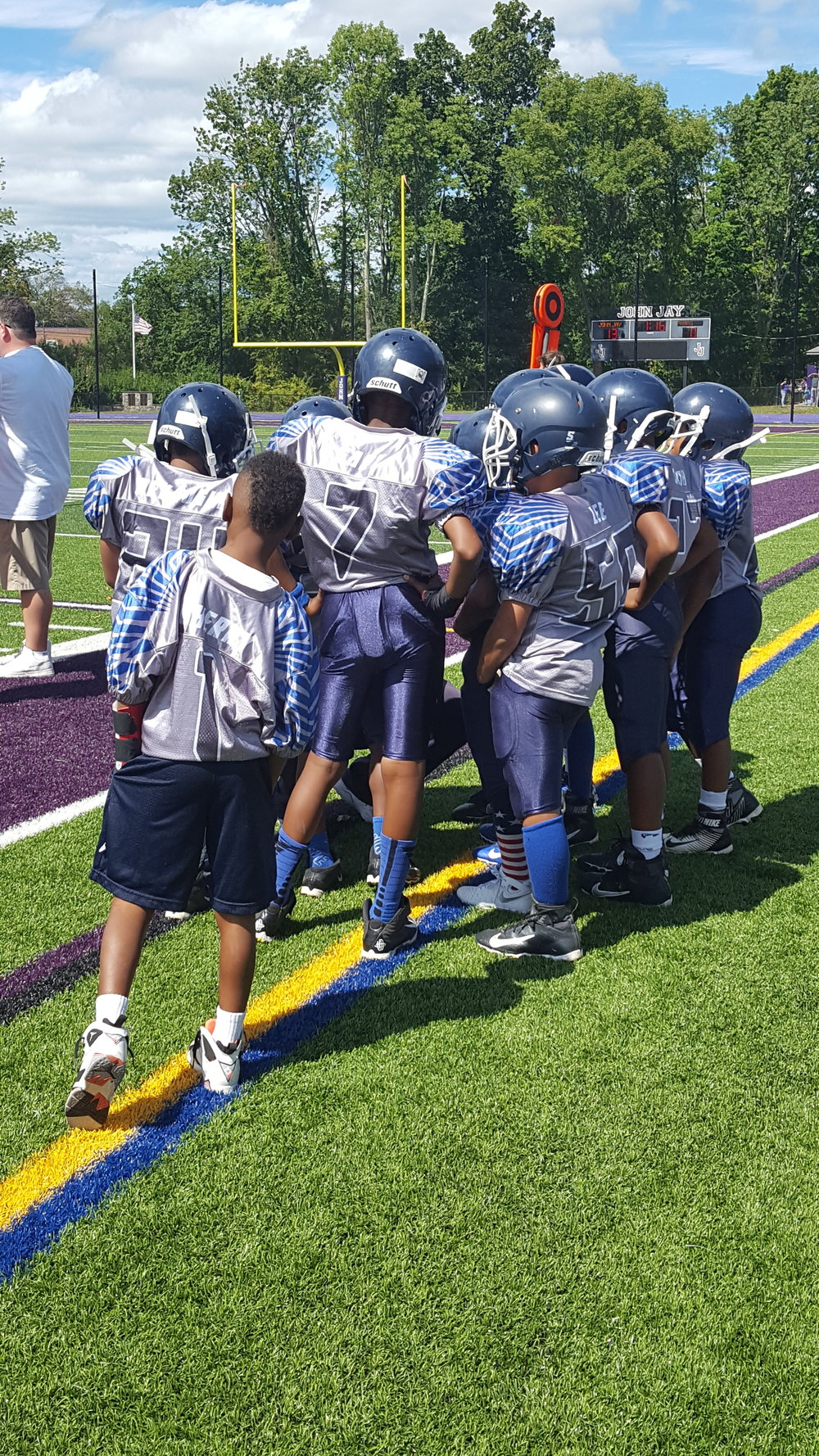 Blue White Navy Blue and Grey Football Uniforms, Jersey and Shorts
