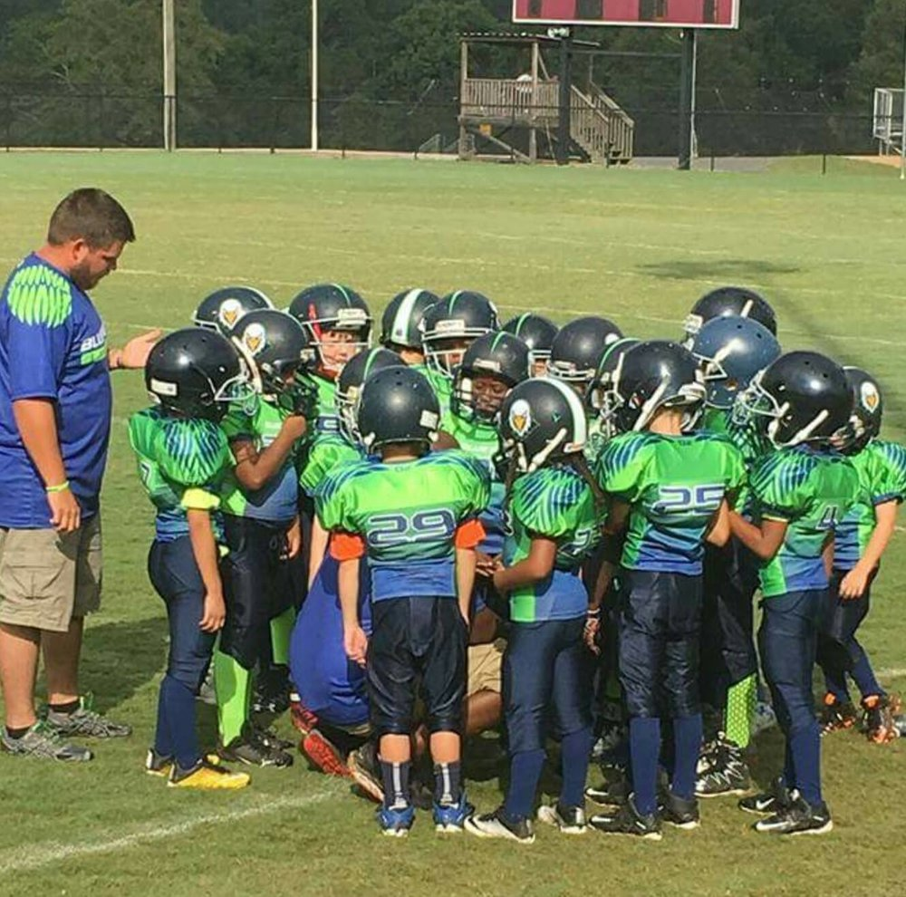 Navy Blue Green Blue and White Football Uniforms, Jersey and Pants