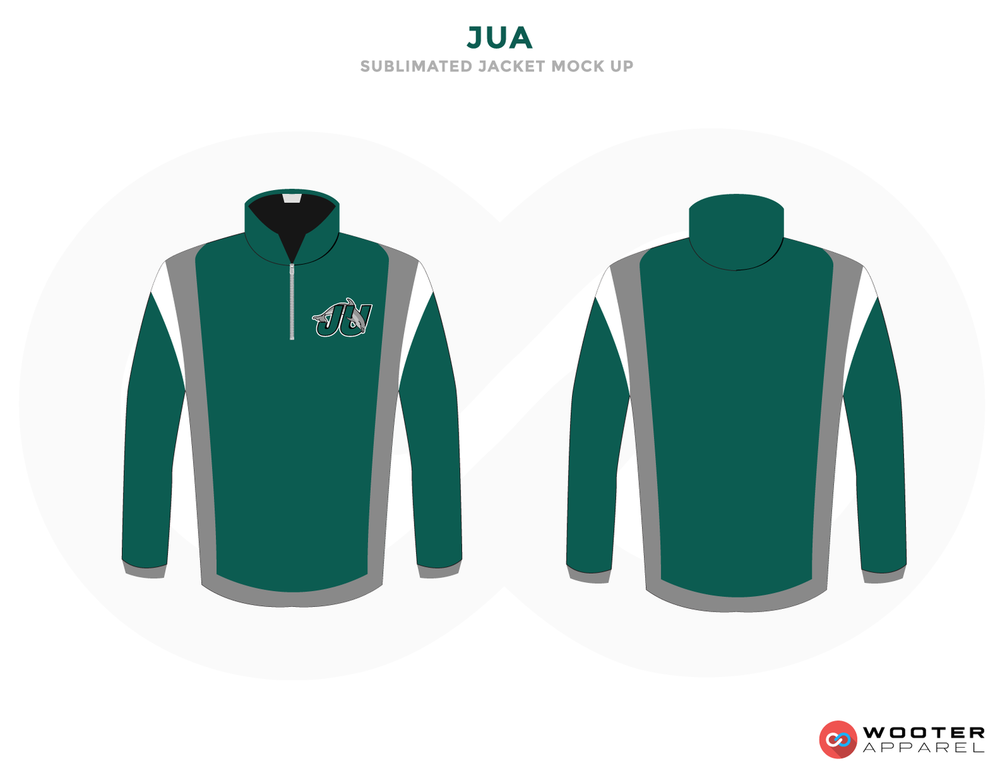 JUA Sea Green Grey Black and White Baseball Uniforms, Jerseys