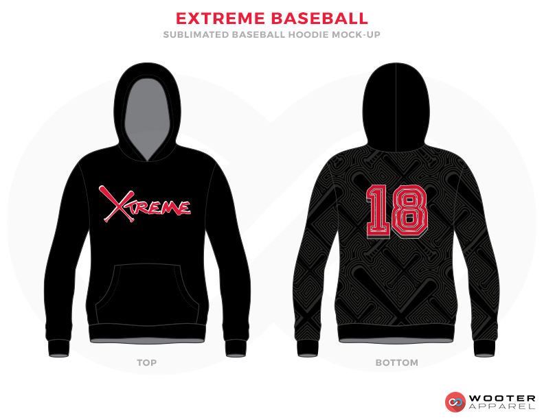EXTREME BASEBALL Black Grey and Pink Baseball Uniforms, Hoodies