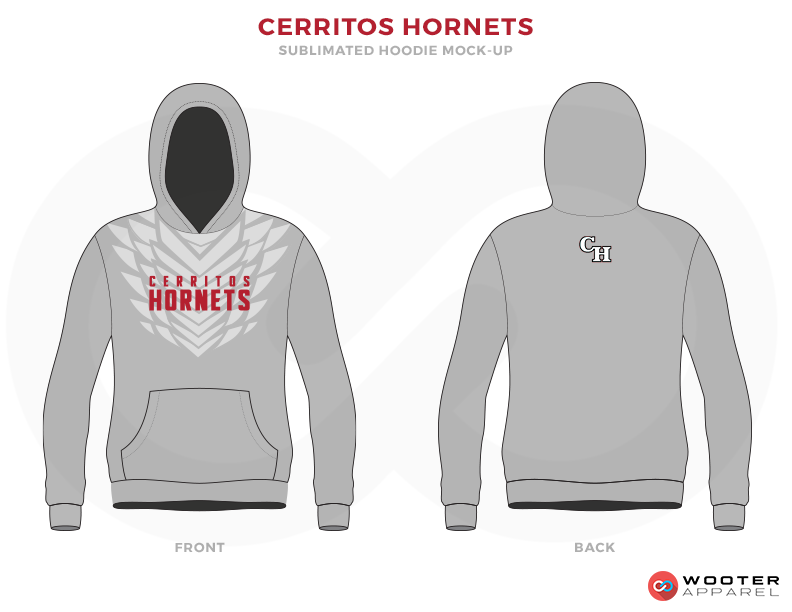 CERRITOS HORNETS Grey Black and Pink Baseball Uniforms, Hoodies
