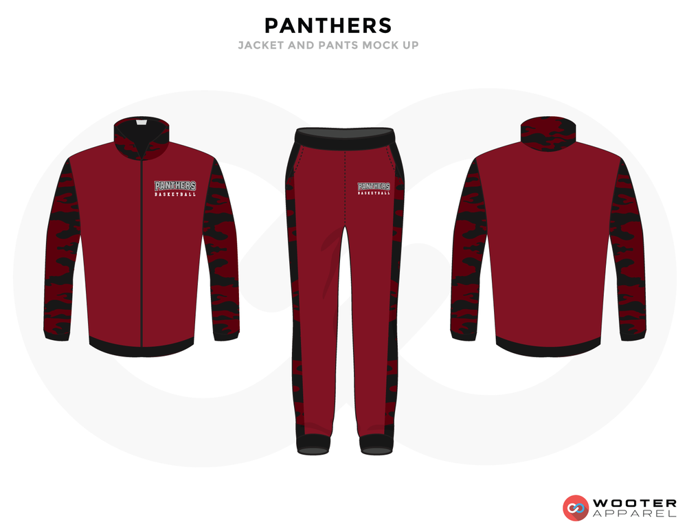 PANTHERS Black Shocking Pink and Grey Baseball Uniforms, Jacket Jersey and Pants