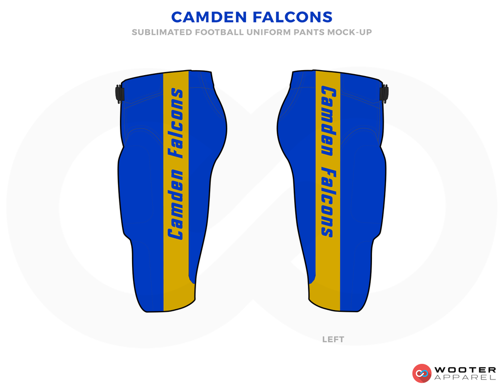 CAMDEN FALCONS Blue and Yellow Football Uniforms, Pants