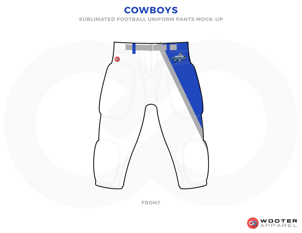COWBOYS White Blue Grey and Red Paints.