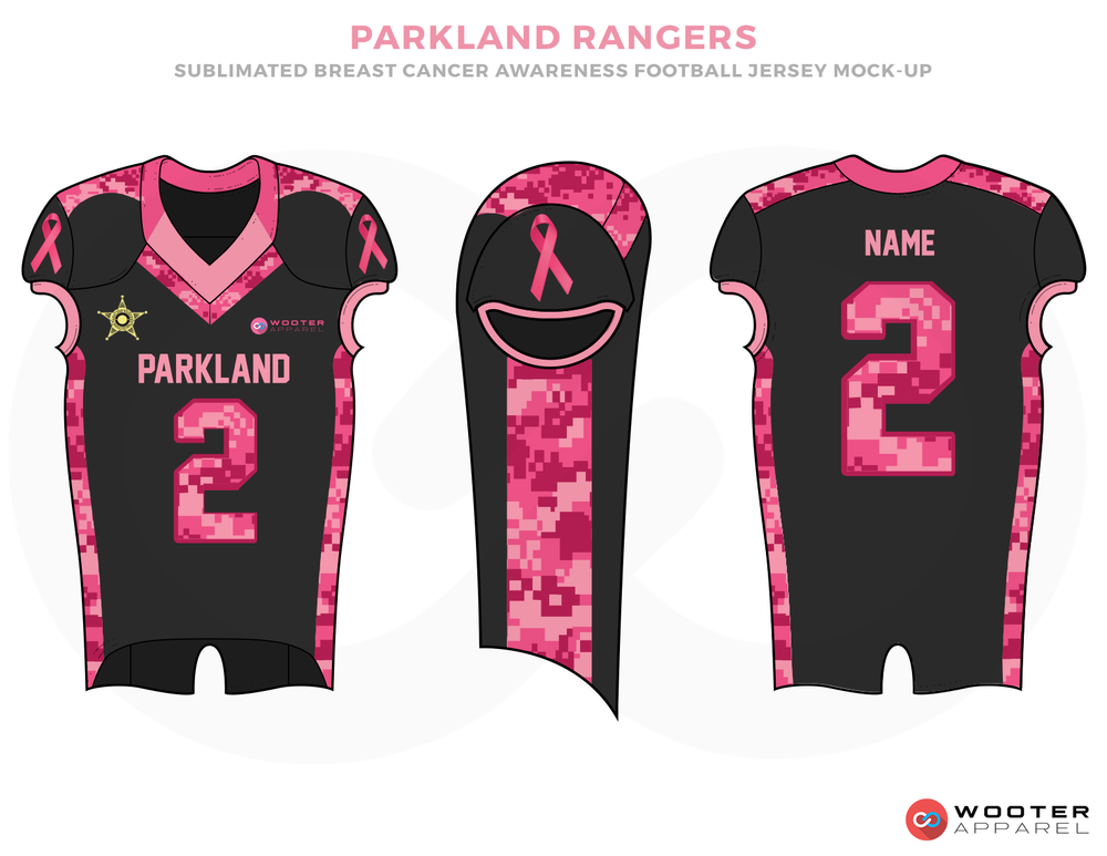 PAKLAND RANGERS Black and Pink Football Uniforms, Jersey and Pants