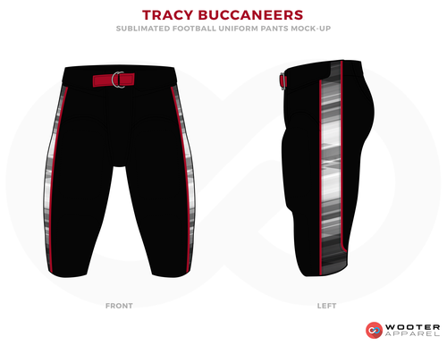 c04efa9f8ad TRACY BUCCANEERS Black White Red and Grey football uniforms jerseys pants