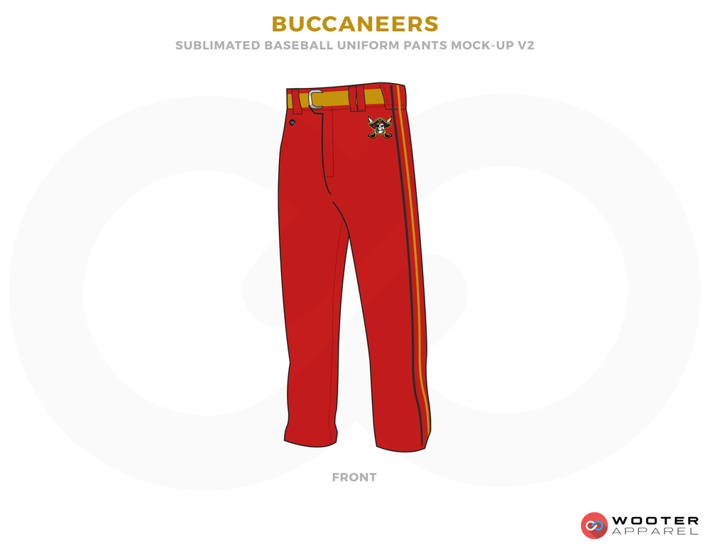 BUCCANEERS Red Yellow and Black Baseball Uniforms,Pants