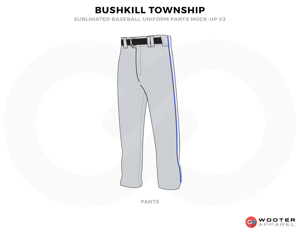 BUSHKILL TOWNSHIP Grey and Black Baseball Uniforms,Pants