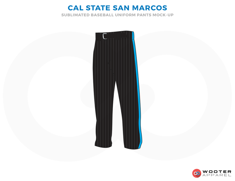 CAL STATE SAN MARCOS Black Ferozi Baseball Uniforms,Pants