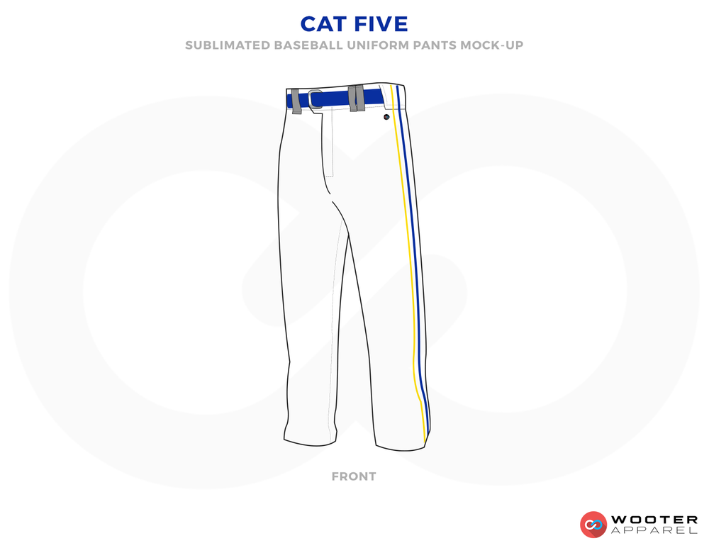 CAT FIVE White and Blue Baseball Uniforms,Pants