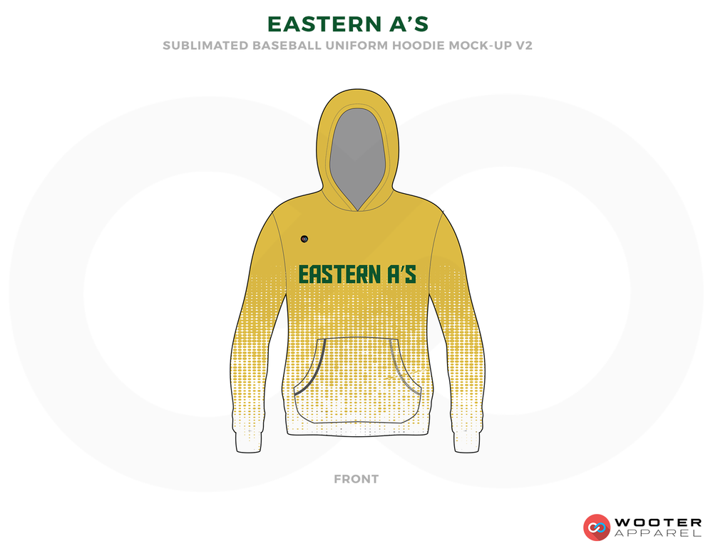 EASTERN A'S Yellow Green and White Baseball Uniforms, Shirts