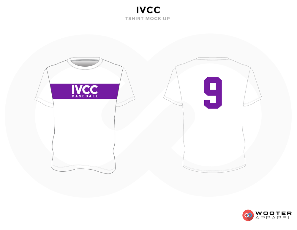 IVCC White and Purple Baseball Uniforms, Shirt