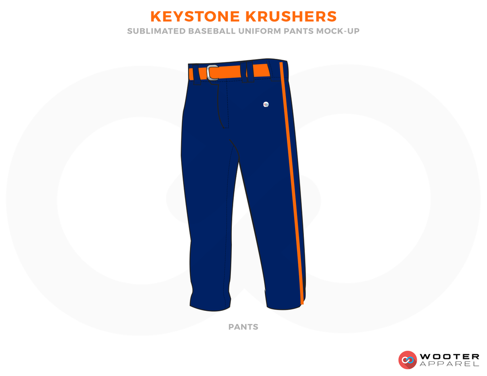 KEYSTONE KRUSHERS Blue and Orange Baseball Uniforms, Pants