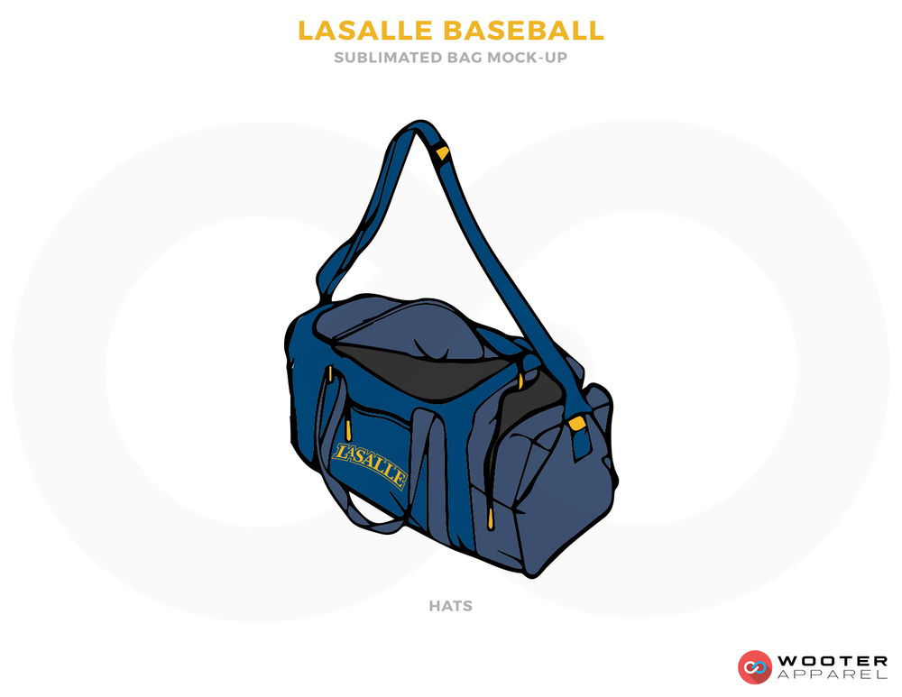 LASALLE BASEBALL Blue and Yellow Baseball Uniforms, Travelling Bag