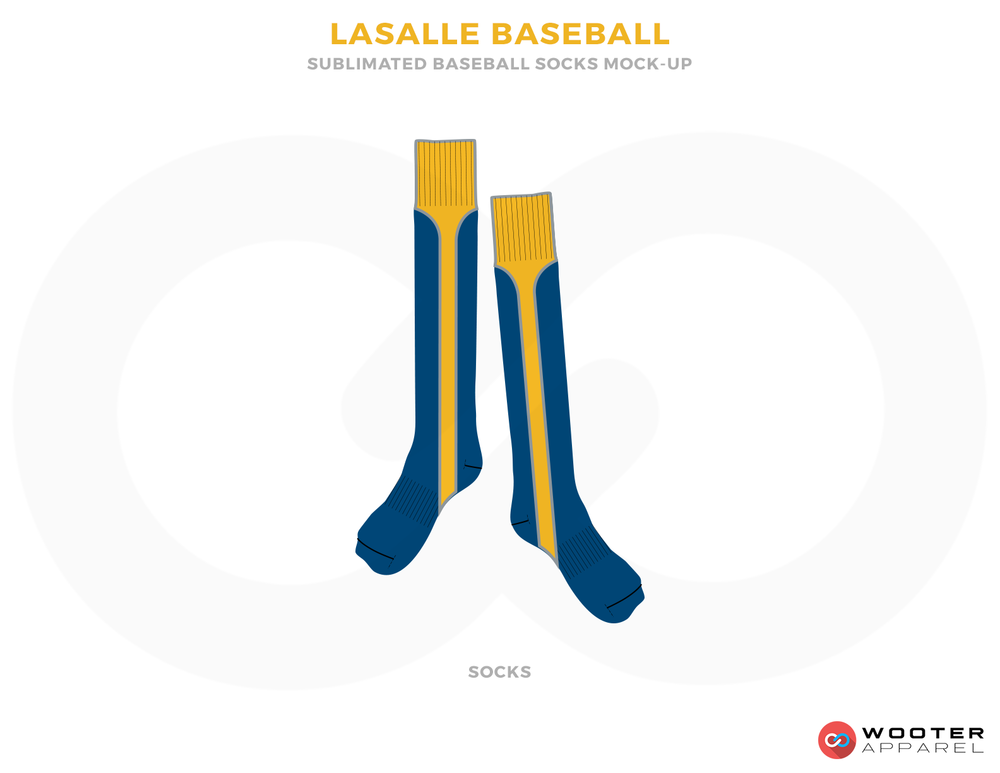 Lasalle Baseball Yellow and Blue Baseball Uniforms, Socks