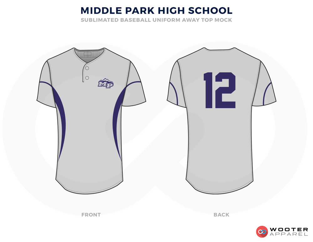 MIDDLE PARK HIGH SCHOOL Baseball Uniforms, Shirts