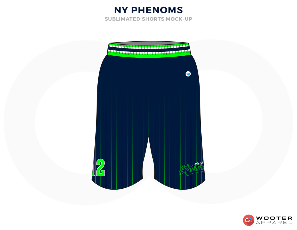 NY PHENOMS Green and Blue Baseball Uniforms, Shorts