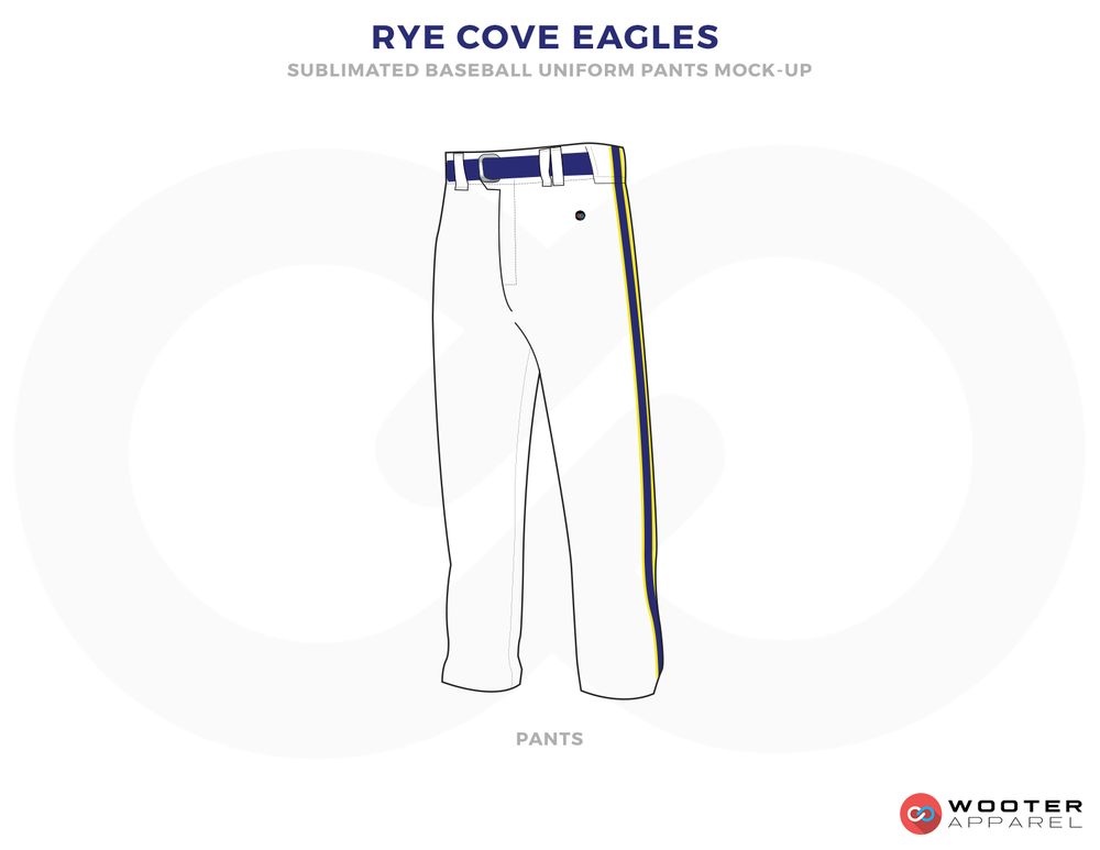 RYE COVE EAGLES Blue and White Baseball Uniforms, Pants