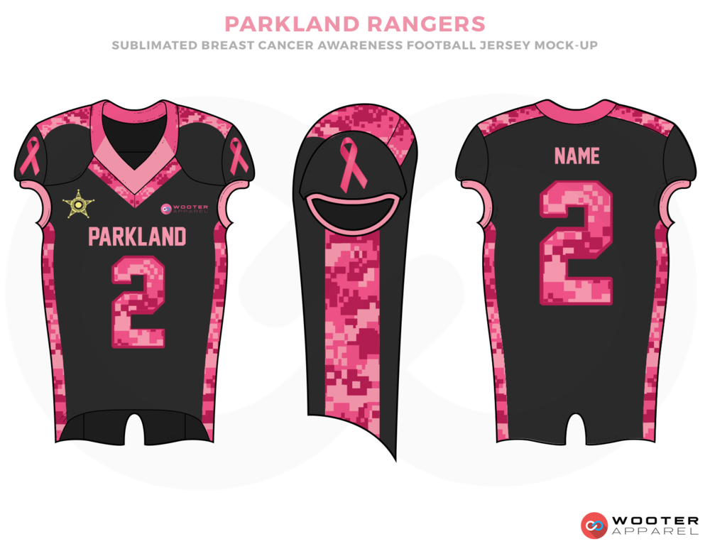 PARKLAND RANGERS Black Pink and  Football Uniforms, Jerseys and Pants