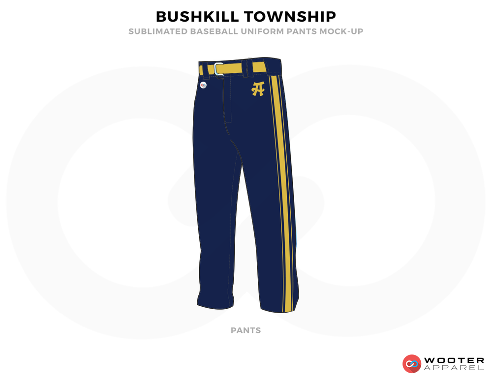 BUSHKILL TOWNSHIP Blue and Yellow Uniforms, Pents