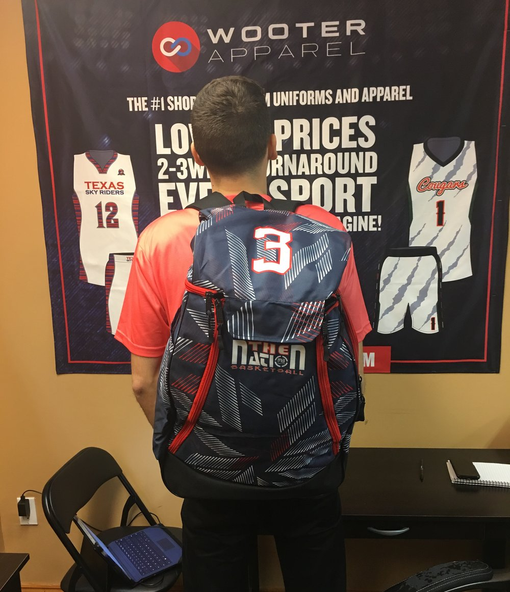 Black Grey and Red White Baseball Basketball Backpacks