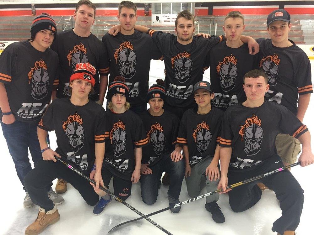 RFA HOCKEY Black Orange Gray White hockey uniforms jerseys pants