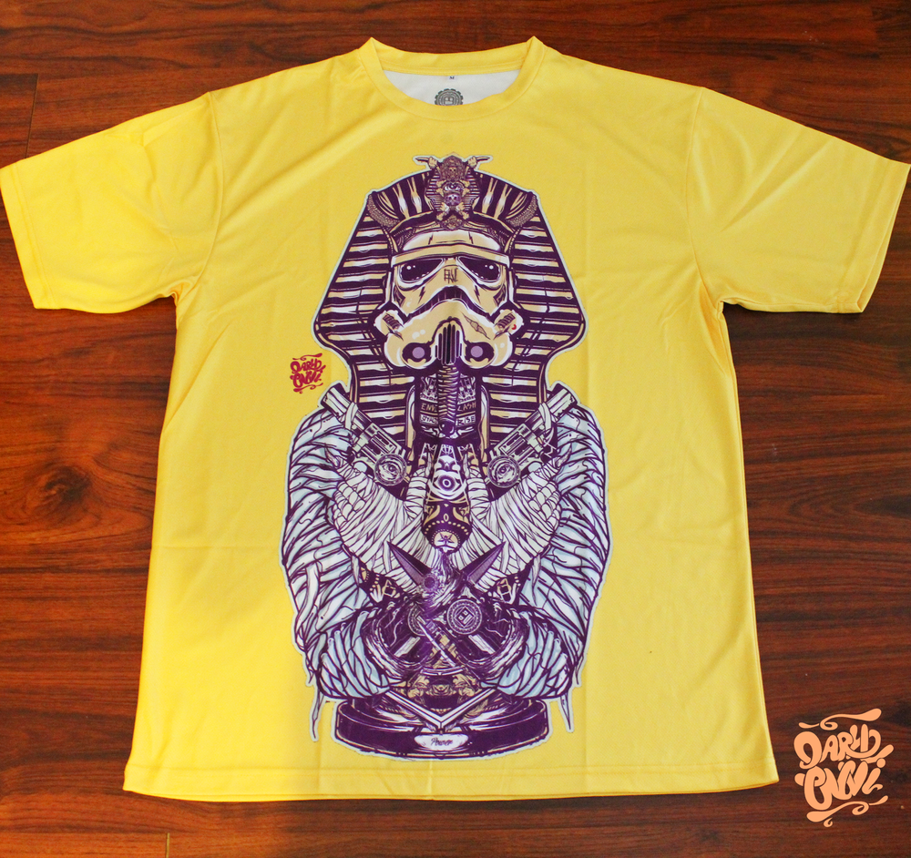 Yellow Purple white sublimated shirt