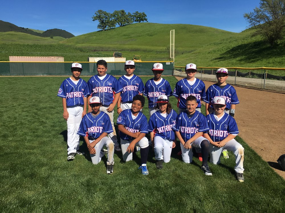 PATRIOTS blue white baseball uniforms jersey shirts, pants