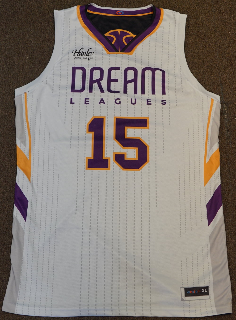 DREAM LEAGUE yellow purple white Youth Basketball Uniforms jerseys