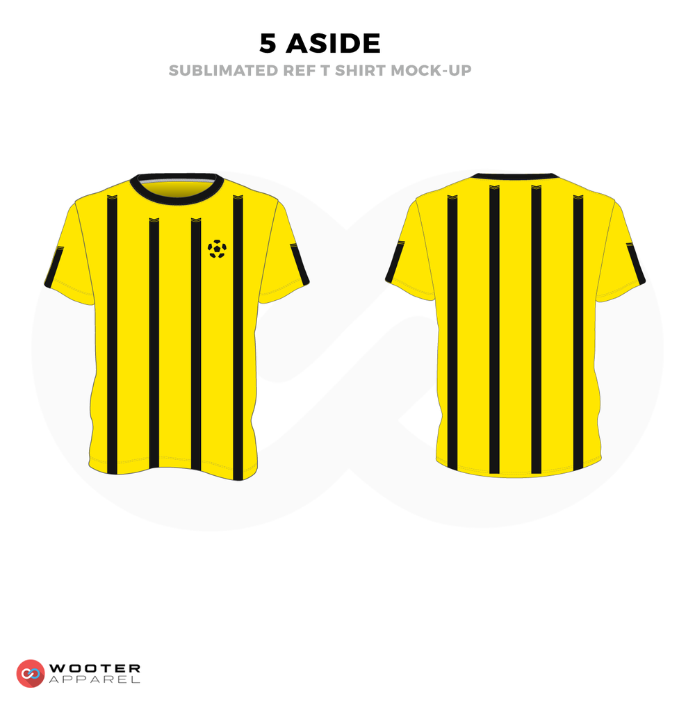 5 Aside Yellow and Black Soccer Uniform, Jersey and Shorts